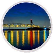 Kodachrome Bridge Round Beach Towel