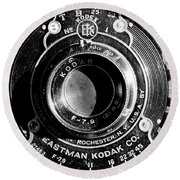 Kodak Brownie 2 Round Beach Towel