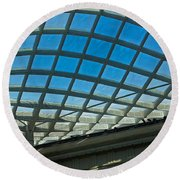 Kogod Courtyard Ceiling #3 Round Beach Towel