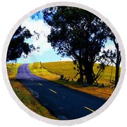 Kohala Mountain Road  Big Island Hawaii  Round Beach Towel