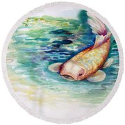 Koi I Round Beach Towel