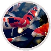 koi Round Beach Towel by Irma BACKELANT GALLERIES
