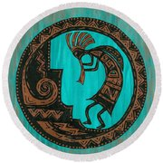 Kokopelli Round Beach Towel by Susie WEBER