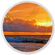 Kona Golden Sunset Round Beach Towel