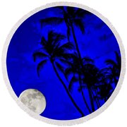 Kona Moon Rising Round Beach Towel