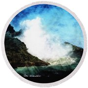 Kona Sea Round Beach Towel