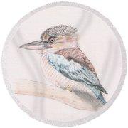Kookaburra Cuteness Round Beach Towel