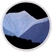 Kootenay Mountains Round Beach Towel