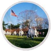 Korean Veterans Memorial Washington Dc Round Beach Towel