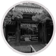 Koto-in Zen Temple Entrance - Kyoto Japan Round Beach Towel