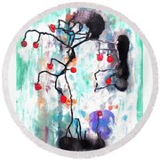 Kyoto Spring Round Beach Towel by Roberto Prusso