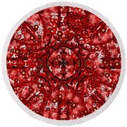 Kundalini Energy Round Beach Towel