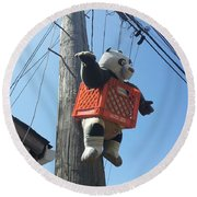 Kung Fu Panda Round Beach Towel