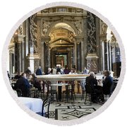 At The Kunsthistorische Museum Cafe II Round Beach Towel