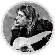 Kurt Cobain Guitar  Round Beach Towel
