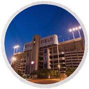 Kyle Field Blue Hour Round Beach Towel by Linda Unger
