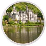Kylemore Abbey 2 Round Beach Towel by Mary Carol Story