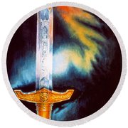 Kyle's Sword Round Beach Towel