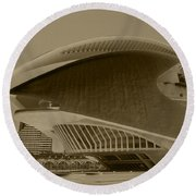 Round Beach Towel featuring the photograph L' Hemisferic - Valencia by Juergen Weiss