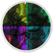 Round Beach Towel featuring the photograph L S D  Part One by Sir Josef - Social Critic - ART
