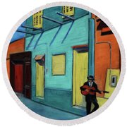 La Boca Morning II Round Beach Towel