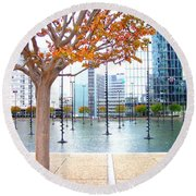 La Defense Round Beach Towel by Oleg Zavarzin