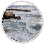 Round Beach Towel featuring the photograph La Jolla Ca by Gandz Photography