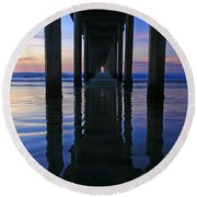 La Jolla Dream Light Round Beach Towel