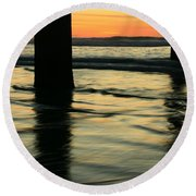 La Jolla Shores Sunset Round Beach Towel