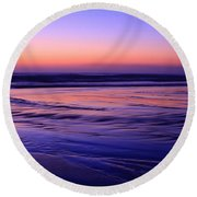 La Jolla Shores Twilight Round Beach Towel