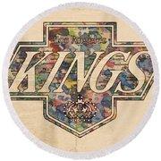 La Kings Vintage Art Round Beach Towel