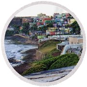 Round Beach Towel featuring the photograph La Perla by Daniel Sheldon