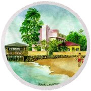 La Playa Hotel Isla Verde Puerto Rico Round Beach Towel