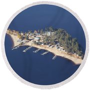La Pointe A David Round Beach Towel