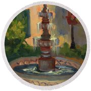 La Quinta Resort Fountain Round Beach Towel