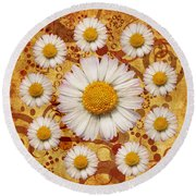 La Ronde Des Marguerites 0101a Round Beach Towel by Variance Collections