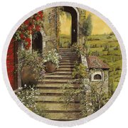 La Scala Grande Round Beach Towel