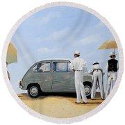 La Seicento Round Beach Towel by Guido Borelli