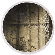 Round Beach Towel featuring the photograph Lace Curtain 1 by Jocelyn Friis