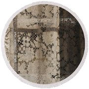 Lace Curtain 2 Round Beach Towel