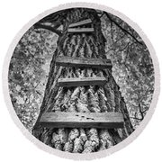 Ladder To The Treehouse Round Beach Towel