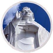 Lady Buddha Vietnam Round Beach Towel