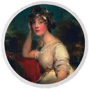 Lady Jane Long, 1793 Round Beach Towel