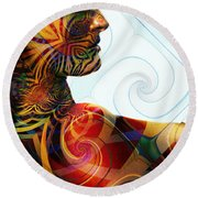 Lady Masquerade Round Beach Towel