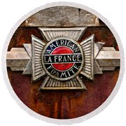 Lafrance Badge Round Beach Towel