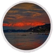 Round Beach Towel featuring the photograph Lago Maggiore by Hanny Heim