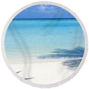 Laguna Maldives Round Beach Towel