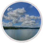 Lake Arrowhead Round Beach Towel by Julia Wilcox