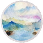 Lake Chuzenji Nikko Round Beach Towel