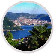 Lake Como Itl7724 Round Beach Towel